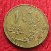 Turkey 10 Kurus 1922 / AH 1341 KM# 832  Turquia Turquie Turchia Turkije - Turquie