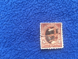 United States Stamp 1890-1893  Scott # 223 Fancy Canceled & Hinged, Damaged & Repaired - Used Stamps