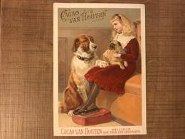 Cacao Van Houten Fille Et Chiens - Van Houten