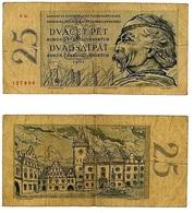 CECOSLOVACCHIA- CESKOSLOVENSKA REPUBLIKA- 25 KORUNY 1961- B ( 12/22) - Tchécoslovaquie