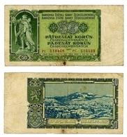 CECOSLOVACCHIA- CESKOSLOVENSKA REPUBLIKA- 50 KORUNY 1953- B ( 12/23) - Tchécoslovaquie