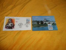 ENVELOPPE FDC + CARTE POSTALE 1ER JOUR DE 1995. / ORLEANS. 68e CONGRES DE LA FEDERATION FRANCAISE. CACHETS ORLEANS + TIM - FDC