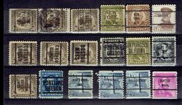 Set Old Stamp Préos United States - All Different - Préoblitérés