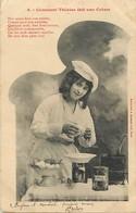 -ref-B248- Illustrateurs - Illustrateur Bergeret - Nancy - Comment Therese Fait Une Crème - N° 2 - Vanille  - Recettes - - Bergeret