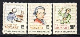 XP4030 - ALBANIA 1991 , Yvert Serie N. 2264/2266  ***  Mozart - Albania