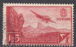 AFRICA ORIENTALE ITALIANA - 1938 - Yvert Posta Aerea 8 Usato, Come Da Immagine. - Africa Orientale Italiana