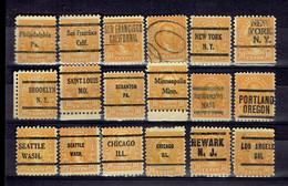 Set Old Stamp Préos United States - All Different - Etats-Unis