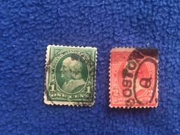 United States Stamp 1890-1893  Set Of 2  Canceled & Hinged - Used Stamps