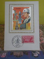 43 éme C.N.F.S.P.F. à Lens (62) Lens - 16.5.1970 - FDC 1er Jour Carte Maxi - Cartes-Maximum