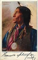-ref-B247- Indiens De L Amerique Du Nord - Indien -chief Wolf Robe - Cheyenne - Voir Etat - - Indiens De L'Amerique Du Nord