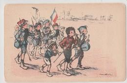 POULBOT:Groupe De Garçonnets Faisant Un Défilé Militaire. N° 205 - Poulbot, F.