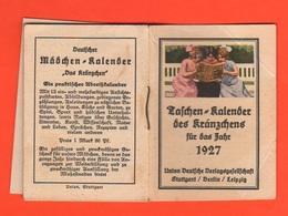 Germania Germany Weimar Kalender Für Mädchen 1927 Jahre Geometrieregeln, Gartenarbeit Und So Weiter - Calendari