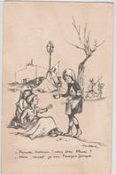 """POULBOT: Une Infirmière """"Pauvre Homme ! Vous êtes Blessé""""? - """"Non, Mort, Je Suis François Joseph"""". N° 39 - Poulbot, F."""