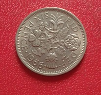 GREAT BRITAIN / GRANDE BRETAGNE SIX 6 PENCE 1966 ELIZABETH I (B3 - 32) - 1902-1971 : Monnaies Post-Victoriennes