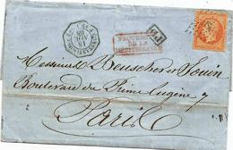 - BFE CONSTANTINOPLE - Bureau Français - Obliteration ANCRE S/TP N°23 + Càd Consulaire + PD -1868 - Francia (vecchie Colonie E Protettorati)