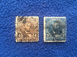 United States Stamps 1890-93, Set Of 2, Canceled & Hinged - Used Stamps