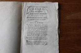 Révolution Fête De La Federation  Soldats Suisses Du Régiment De Chateauvieux - Historical Documents