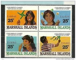 Jeux D'enfants Des Iles Marshall.  Bloc De 4 T-p Neufs **. Yv. 283/86. - Marshall