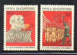 XP4038 - ALBANIA 1989 , Yvert Serie N. 2205/2206  *** Internazionale Comunista - Albania