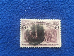 United States Stamp Scott # 231,1893, Colombian Issue, Fancy Canceled & Hinged - Used Stamps