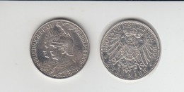 Silbermünze Preussen 2 Mark 1901 Jäger Nr. 105/6 - Monnaies