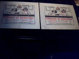 Scolaire Bon Point Ville De Paris  2  Bulletins De Satisfaction Identiques Annee 1937 - Autres Collections