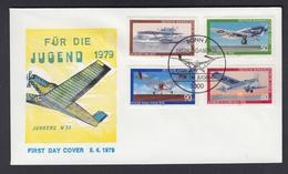 Bund FDC Mit 1005-1008 Jugend Luftfahrt Mit ESST 5.4.1979 - BRD