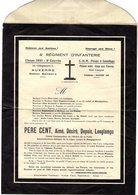 --PERE CENT - 4e REGIMENT D'NFANTERIE - AUXERRE Classe 1931 -- - Faire-part
