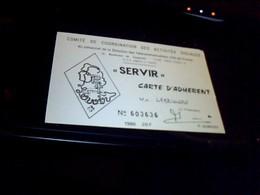 Carte D'adherent Comité De Coordination Des Activites Sociales Du  Personnel  Des PTT D' Ile De France Annee 1986 - Cartes