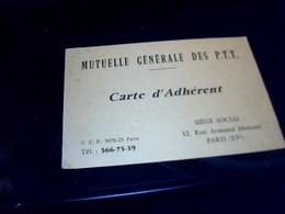 Carte D'adherent   Muyuelle Generale  Des PTT D' Ile De France Annee ? - Cartes