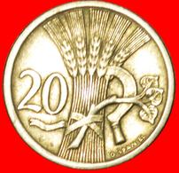 # SICKLE (1921-1938): CZECHOSLOVAKIA ★ 20 HELLER 1924! LOW START ★ NO RESERVE! - Czechoslovakia