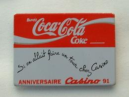 PIN'S COCA COLA - ANNIVERSAIRE CASINO 91 - Coca-Cola