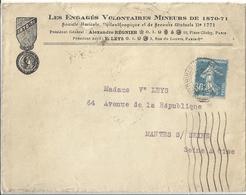 France Lettre Affranchie Les Engagés Volontaires Mineurs De 1870-71 - France