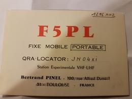 CARTE QSL RADIO AMATEUR FRANCE TOULOUSE 31 1988 - Radio Amateur