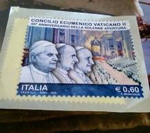 FRANCOBOLLO CONCILIO ECUMENICO VATICANO II - 2012 - 50° ANNIVERSARIO - RELIGIONE - Italia