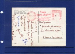##(DAN191)-Italia 1979-Affrancatura Rossa EMA Hotel Rosa Alpina-S.Cassiano-Val Badia Dicitura Bilingue Su Cartolina - Affrancature Meccaniche Rosse (EMA)