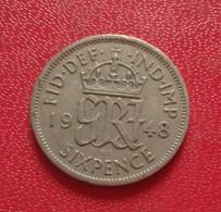 GRANDE BRETAGNE SIX 6 Pence 1948  (B3 - 36) - 1902-1971 : Monnaies Post-Victoriennes