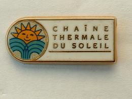 PIN'S CHAINE THERMALE DU SOLEIL - ZAMAC - Badges