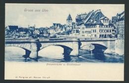 Gruss Aus ULM (Baden-Wurttemberg) Donaubrücke U. Stadtmauer      - Gac93 - Ulm