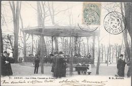 ARRAS AUX ALLEES,  CONCERT AU KIOSQUE 1904 - Arras