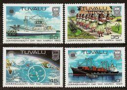 TUVALU 1983 - COMMONWEALTH DAY - 4v Mi 186-189 MNH ** Cv€2,00 V929 - Tuvalu