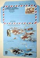 TAAF FSAT Aérogramme 1 ** MNH Non Plié Piste De Terre Adélie Lockheed Hercules ● 1 Ligne De Texte Sur Le Rabat - Enteros Postales