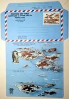 TAAF FSAT Aérogramme 1 ** MNH Non Plié Piste De Terre Adélie Lockheed Hercules ● 2 Lignes De Texte Sur Le Rabat - Enteros Postales