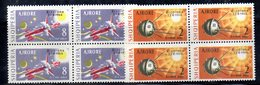 XP4045 - ALBANIA 1964 , Posta Aerea Yvert Serie N. 66/67  In Quartina  ***  MNH - Albania