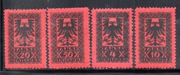 XP4046 - ALBANIA 1922 , Segnatasse Yvert Serie N. 18/21  * - Albania