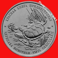 Transnistria / Moldova 1 Ruble 2018 Red Book. Marsh Turtle. New! - Moldova