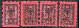 XP4047 - ALBANIA 1925 , Segnatasse Yvert Serie N. 22/25  * - Albania