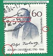 * 1990 N° 840 Portrait D'Adolph Diesterweg Oblitéré - [5] Berlin