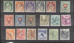 Lot Timbres Suisses - Service Fédéral De Contrôle 1935-1937 - Oblitérés