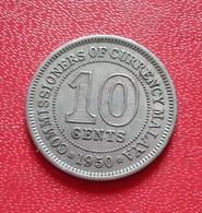 Monnaie, MALAYA, 10 Cents, 1950, TTB, Copper-nickel,(B3 - 33) - Malaysie